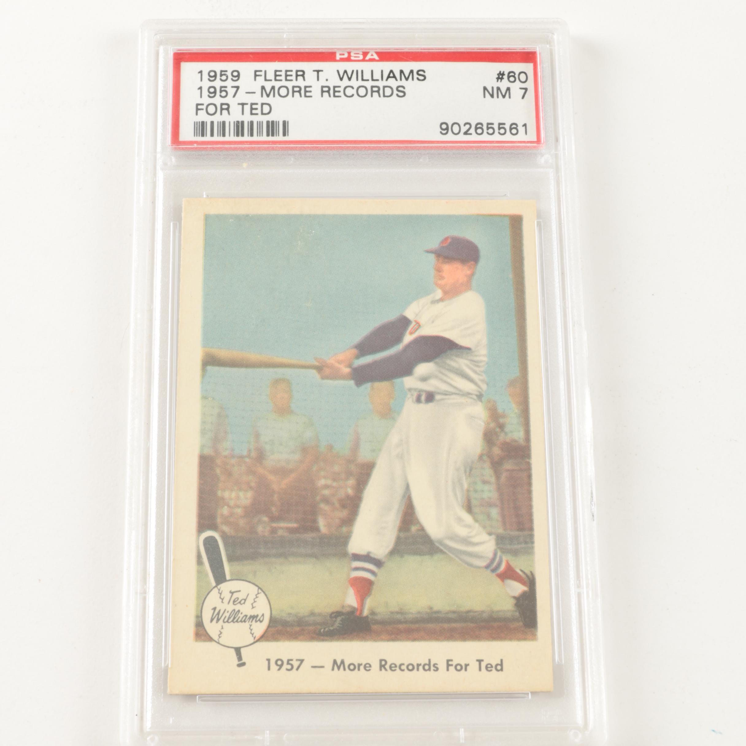 1959 Fleer Ted Williams Baseball Card