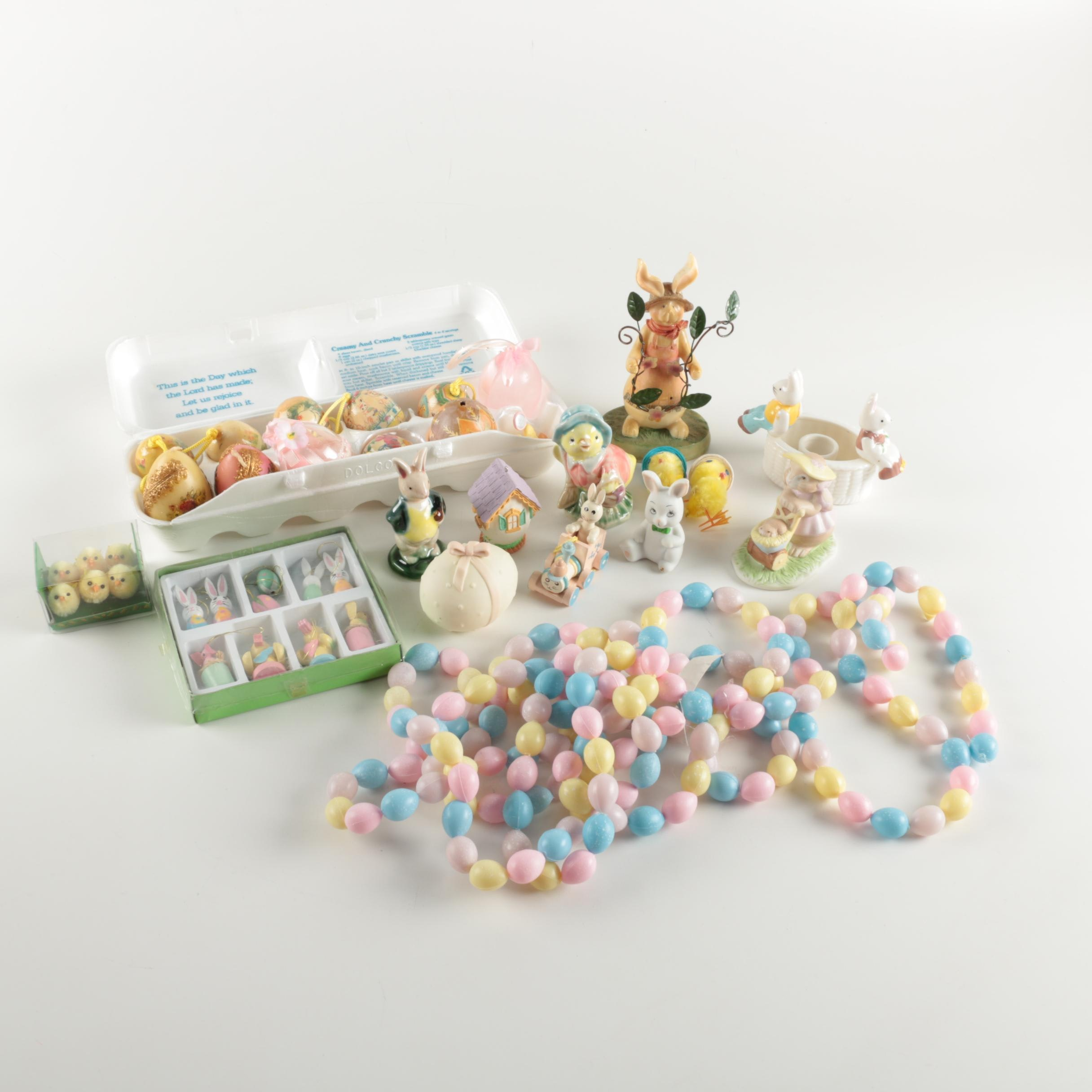 Assortment of Easter Ornaments and Figurines