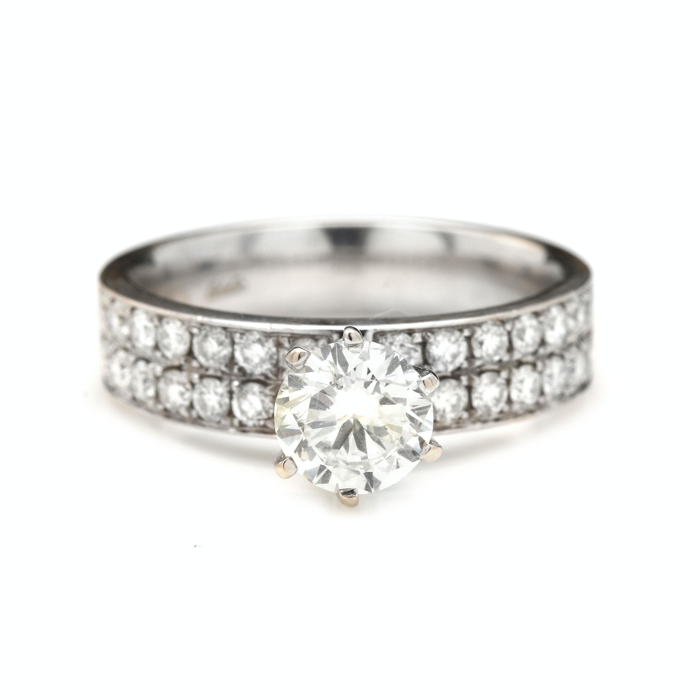 Odelia 18K White Gold 1.59 CTW Diamond Ring