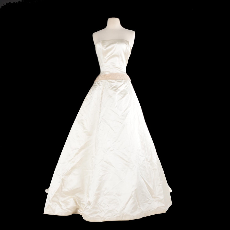 Amsale For Saks Fifth Avenue Strapless Wedding Gown Ebth