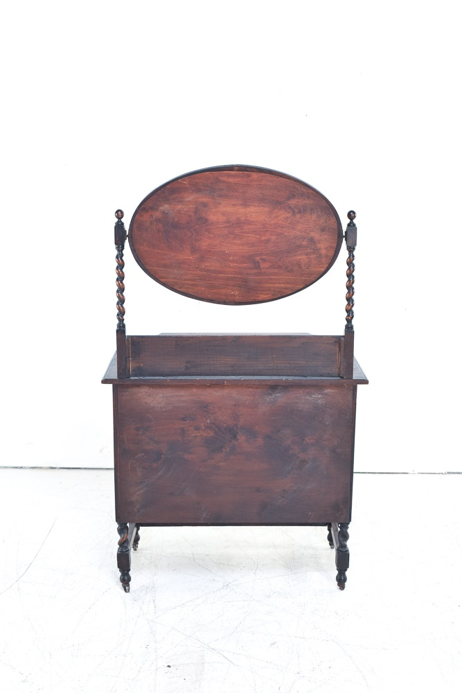 Antique English Oak Dresser With Mirror Ebth