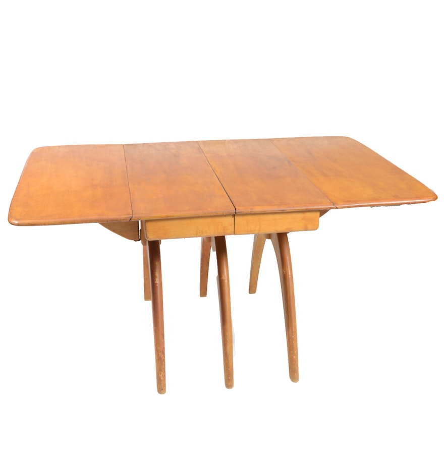 Mid century modern heywood wakefield butterfly dining table ebth mid century modern heywood wakefield butterfly dining table geotapseo Image collections