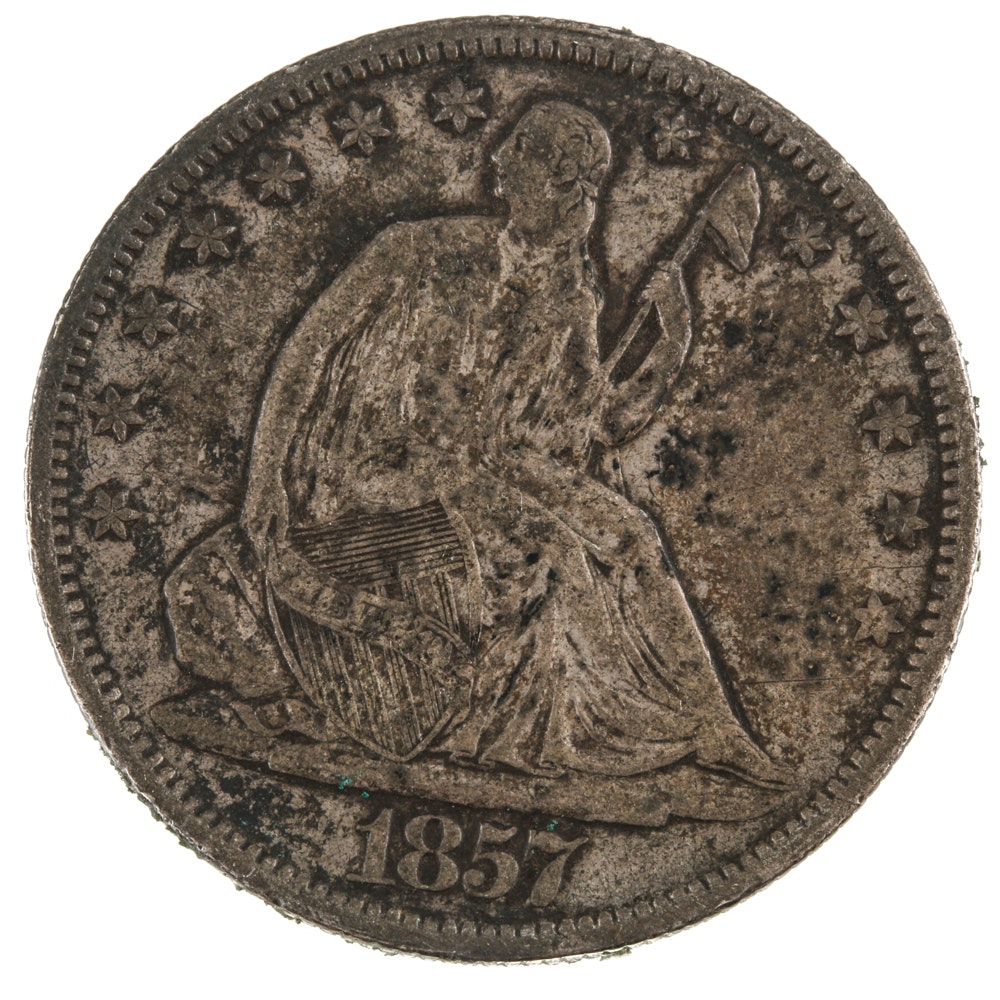1857 Seated Liberty Half-Dollar