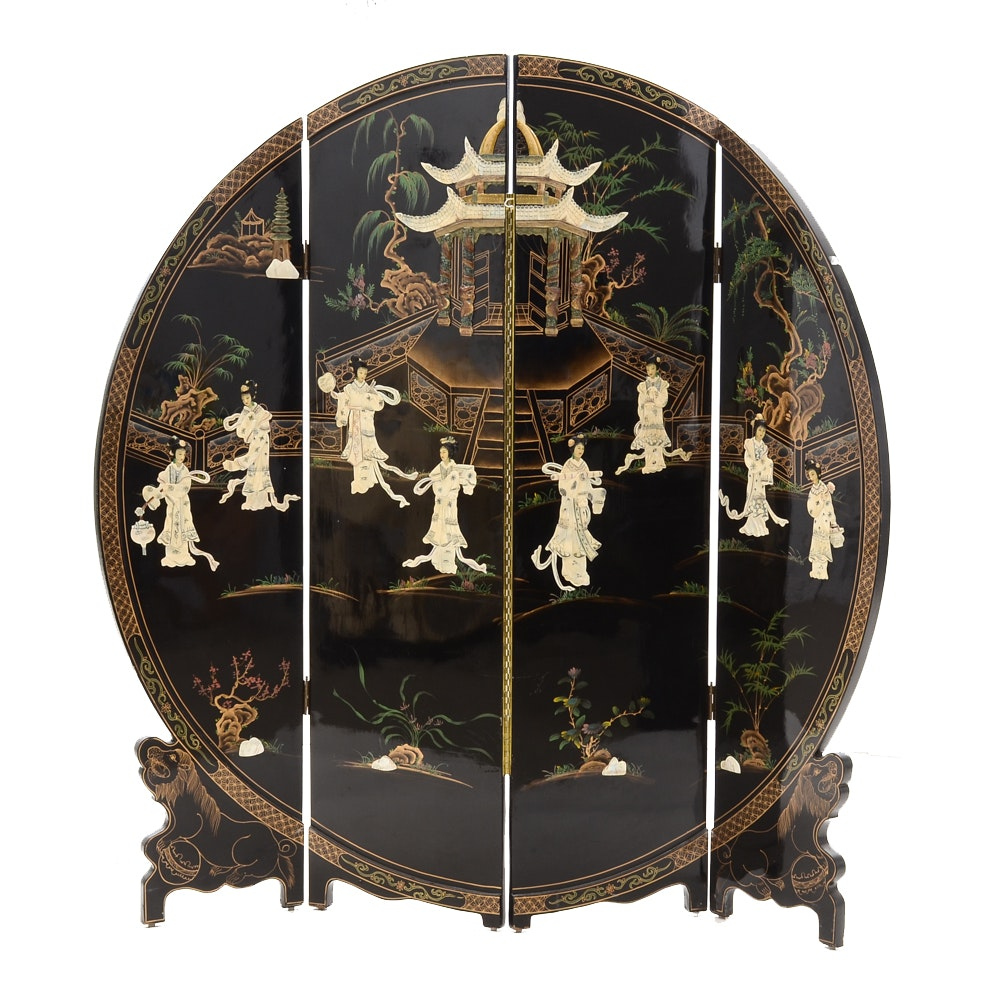 Chinese Four-Panel Screen