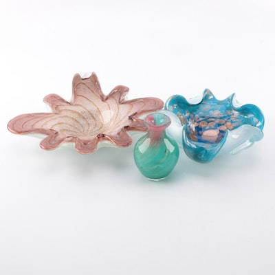 Art Glass Bowls and Vase