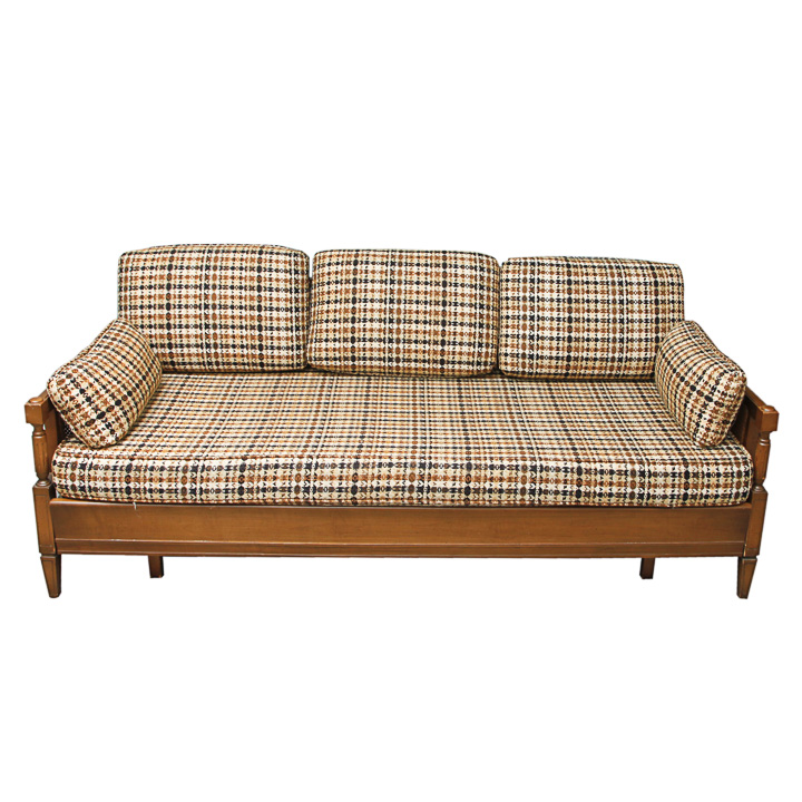 Mid Century Modern Sofa With Trundle
