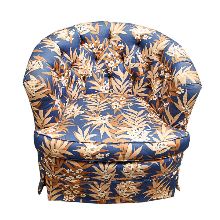 Deco Revival Floral Upholstered Tub Chair by State of Newburgh