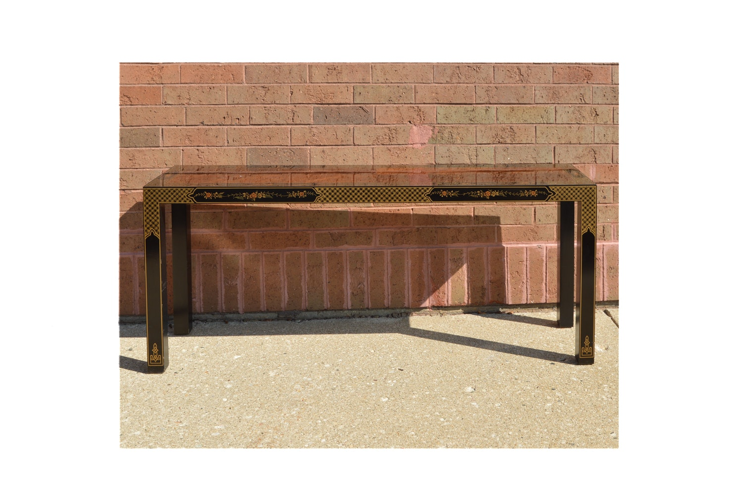 Drexel Heritage Asian Styled Sofa Table