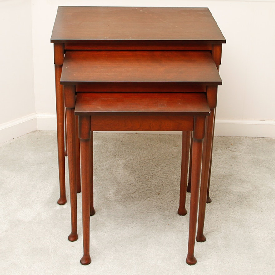 Bombay Company Wooden Nesting Tables EBTH - Nesting table with drawer