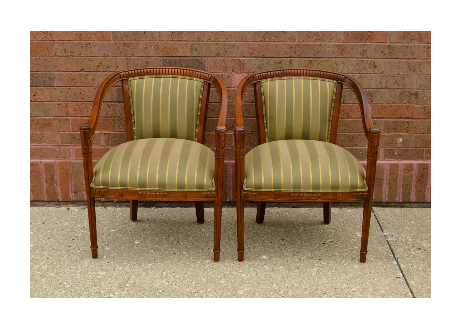 Hollywood Regency Style Upholstered Chairs ...