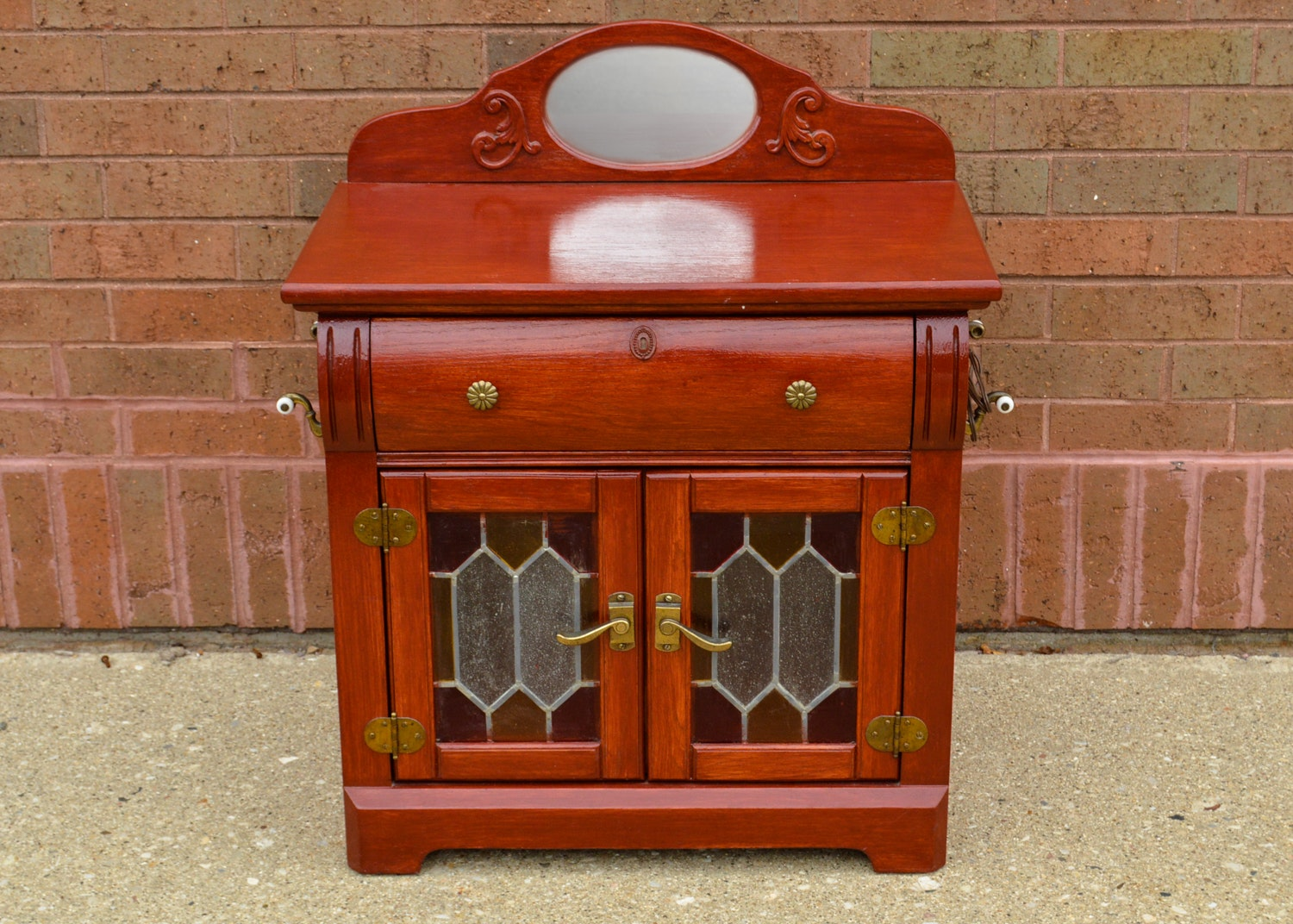 Colonial-Revival Style Washstand Cabinet by Stanley