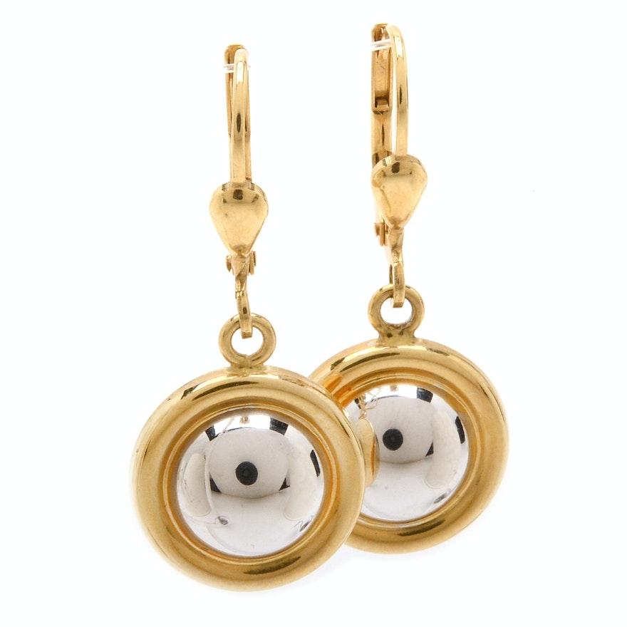 39484847a 18K Two-Tone Gold Milor Italy Earrings : EBTH