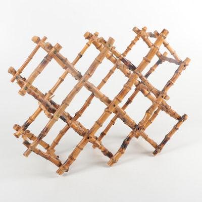 Folding Wood Wine Rack