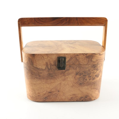 Handmade Burl Veneer Carrying Case