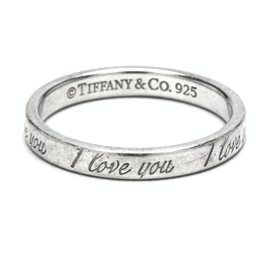Tiffany Amp Co Sterling Silver Quot I Love You Quot Ring Ebth