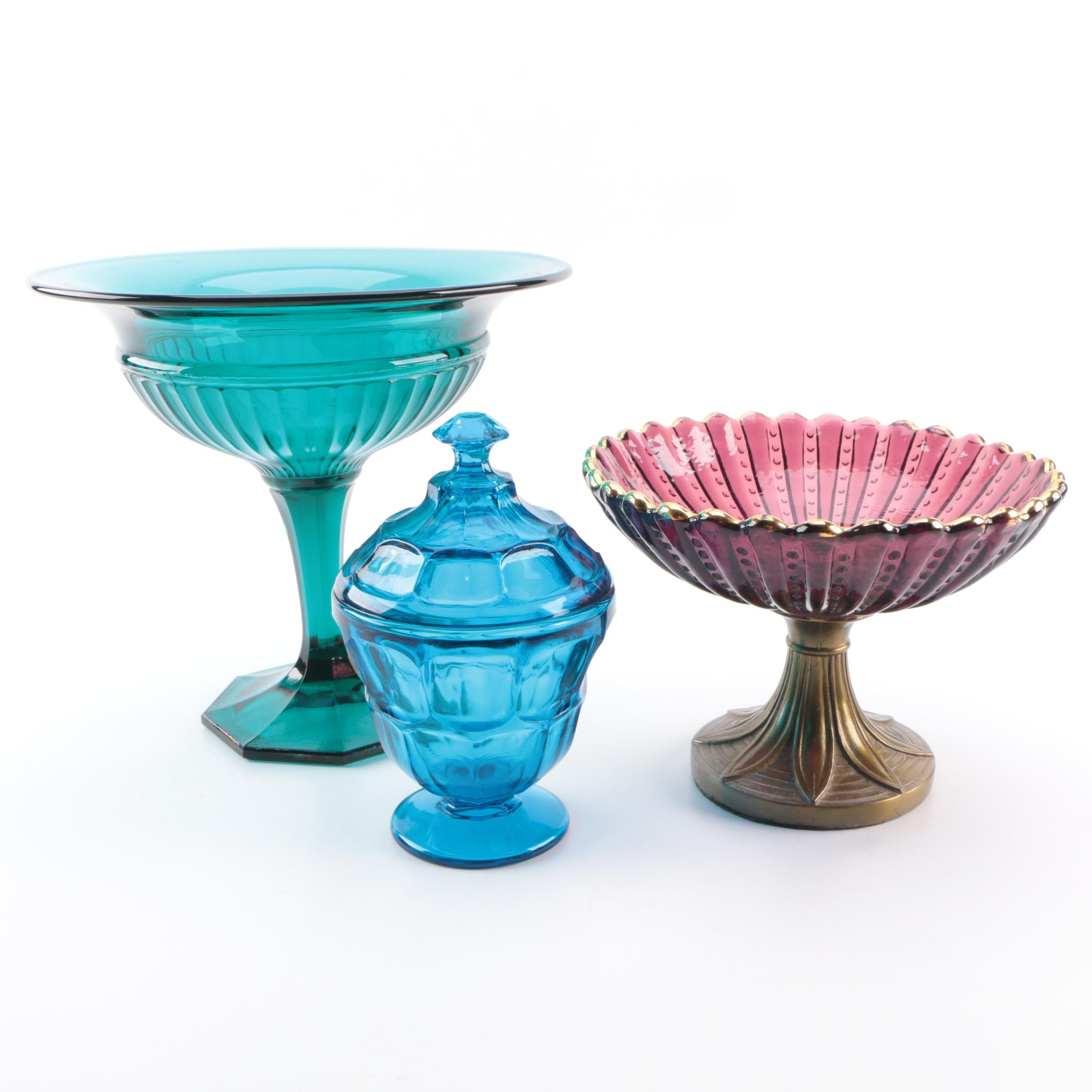 Pressed Glass Candy Bowls
