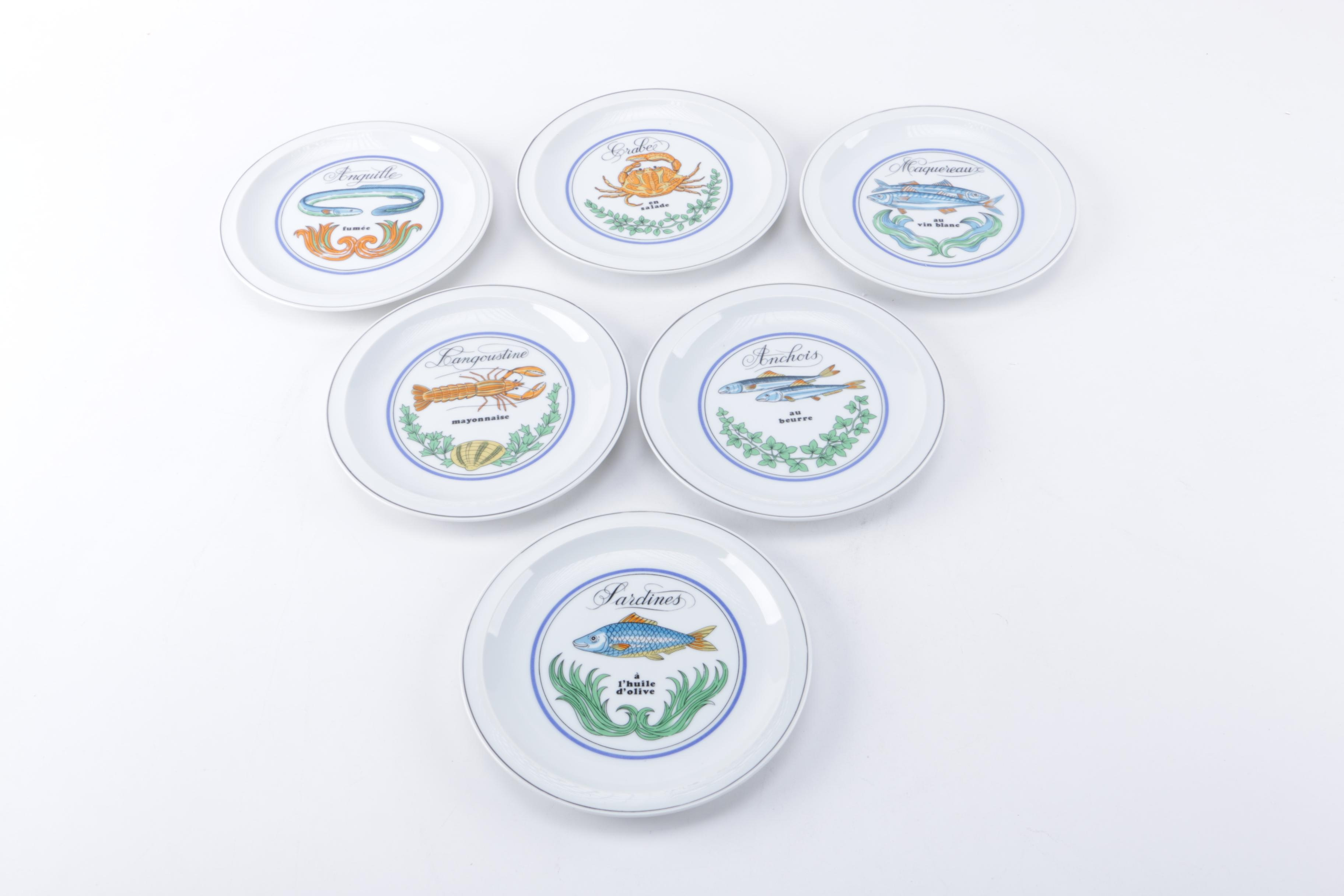 """The Toscany Collection Porcelain """"Sushi"""" Plates"""