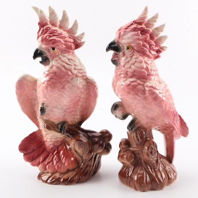 Pair of Ceramic Cockatoo Figurines
