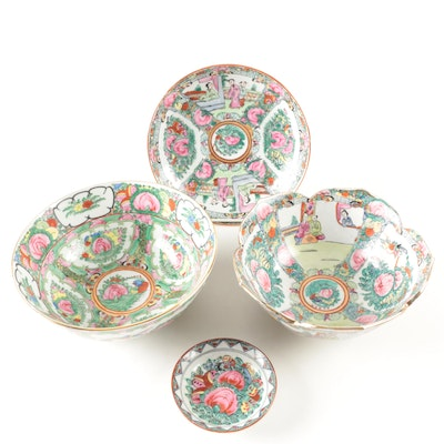 Rose Medallion and Rose Canton Porcelain Tableware