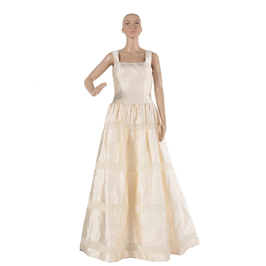 Vintage House of Bianchi Silk Bridal Gown : EBTH