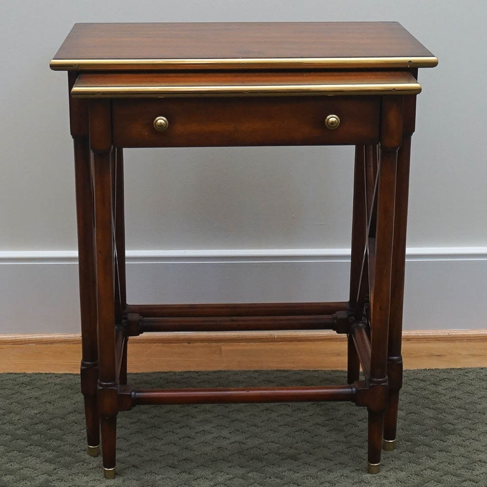 Mahogany Nesting Tables by Theodore Alexander