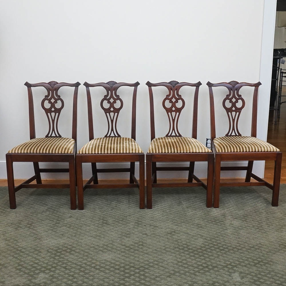 Vintage Chippendale Style Chippendale Side Chairs