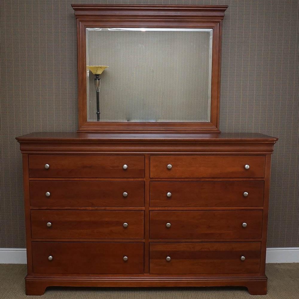 Stanley Furniture Cherry Dresser with Mirror