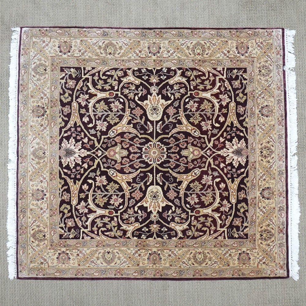 Hand-Knotted Persian Inspired Wool Area Rug