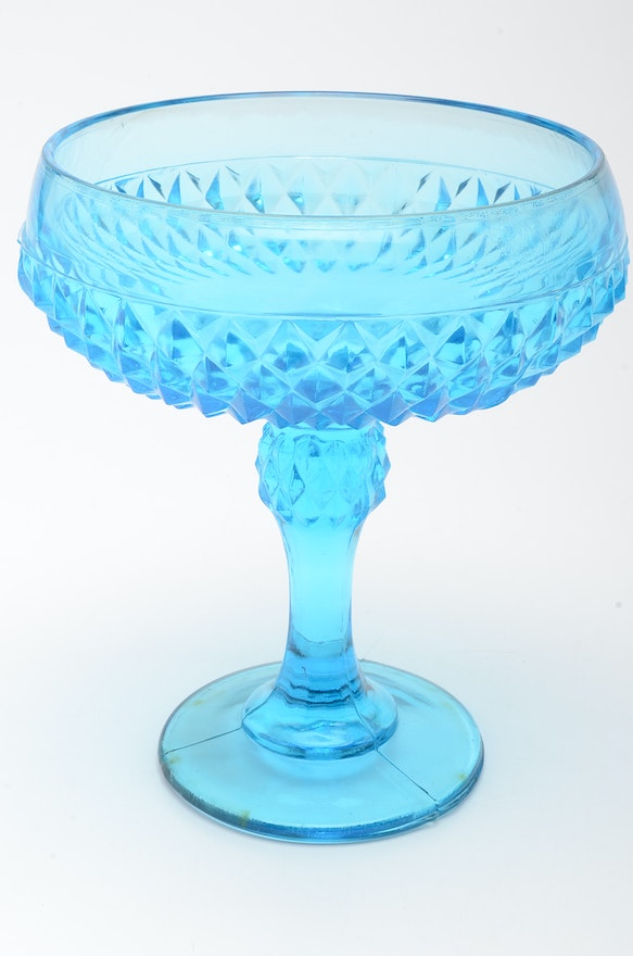 Blue Depression Glass Pitcher