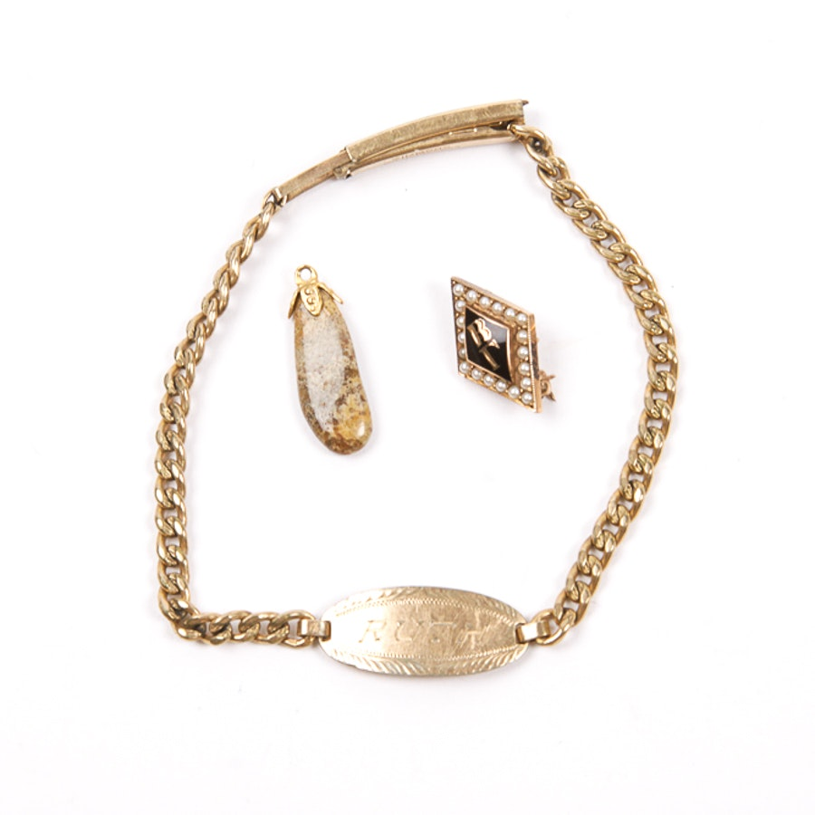 Gold Toned Jewelry Collection
