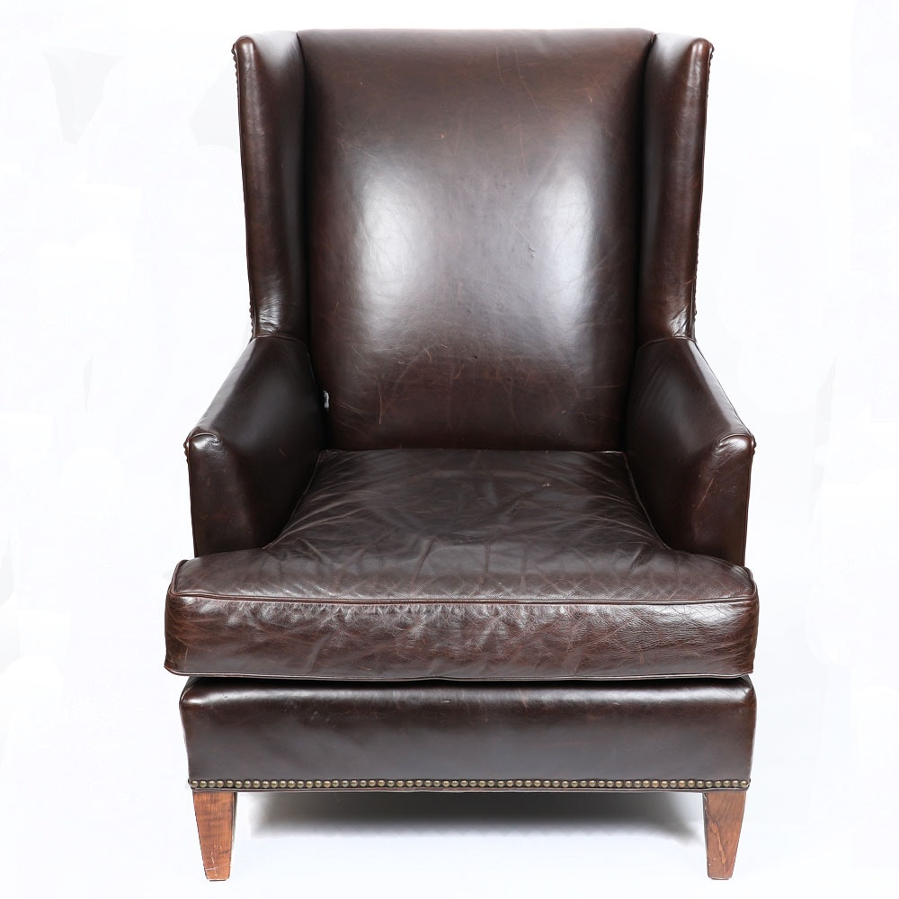 Full Grain Leather Club Chair By Mitchell Gold + Bob Williams ...