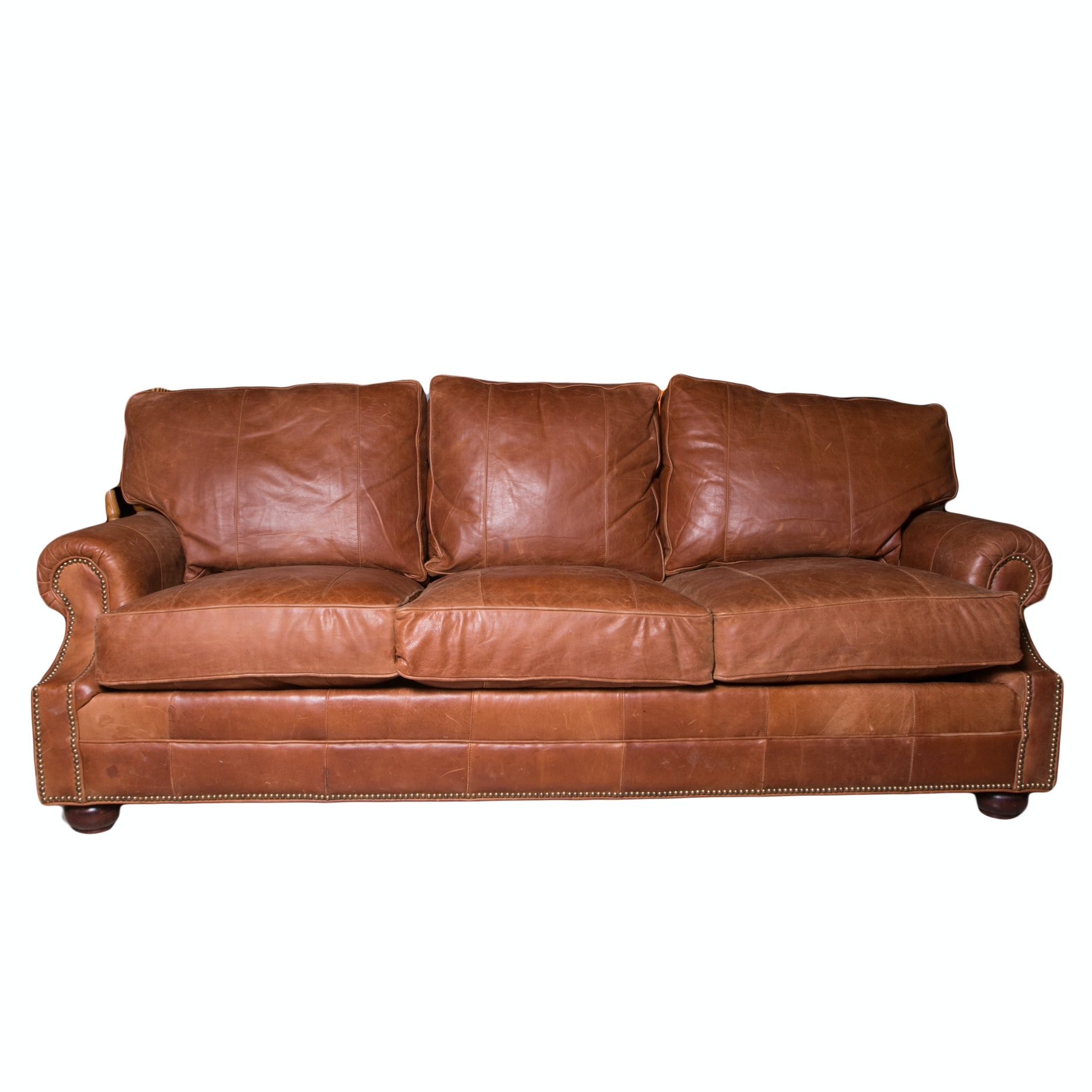 Lexington Furniture Cognac Leather Couch ...