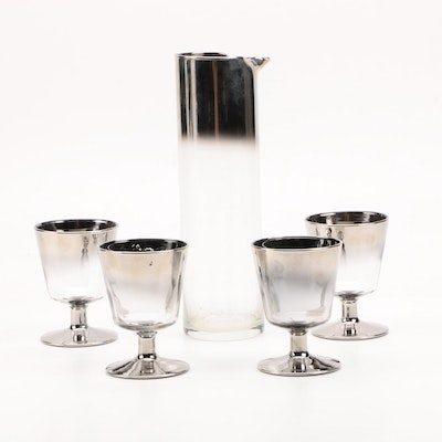 Mid 20th Century Queen's Lusterware Glass Cocktail Serving Set