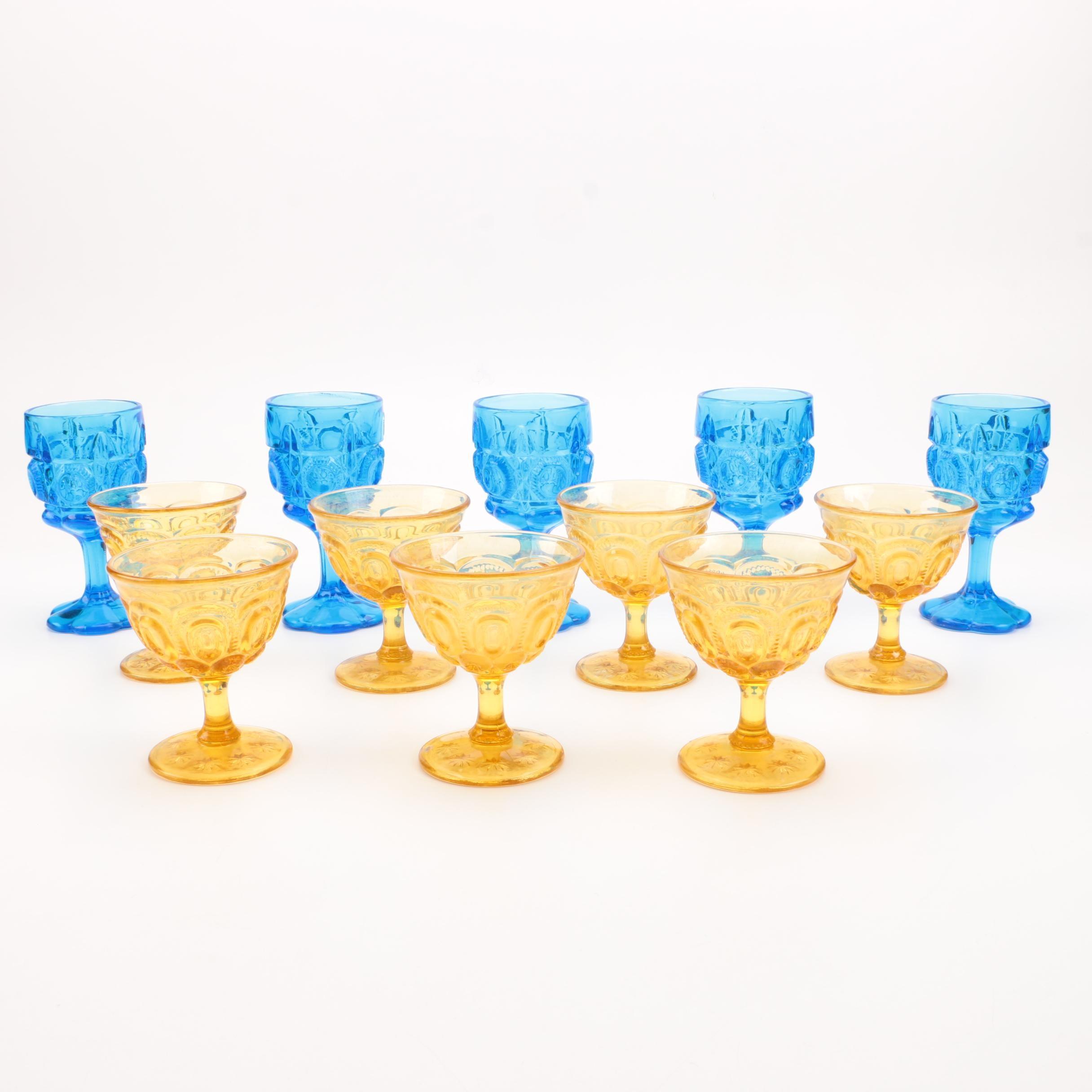 """Moon and Stars"" Vintage Glass Stemware"