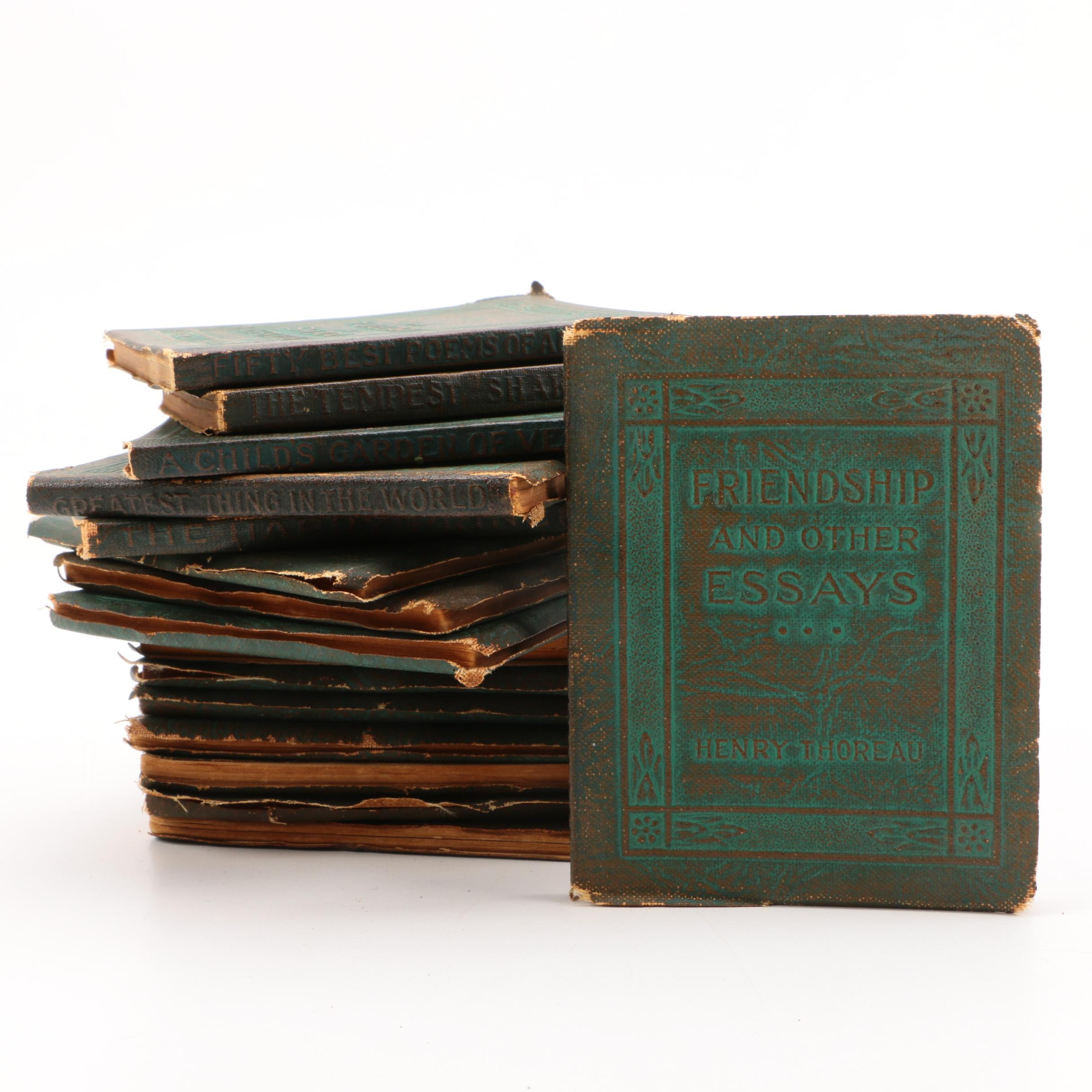 """Collection of """"Fifty Best Poems of America"""" Books"""