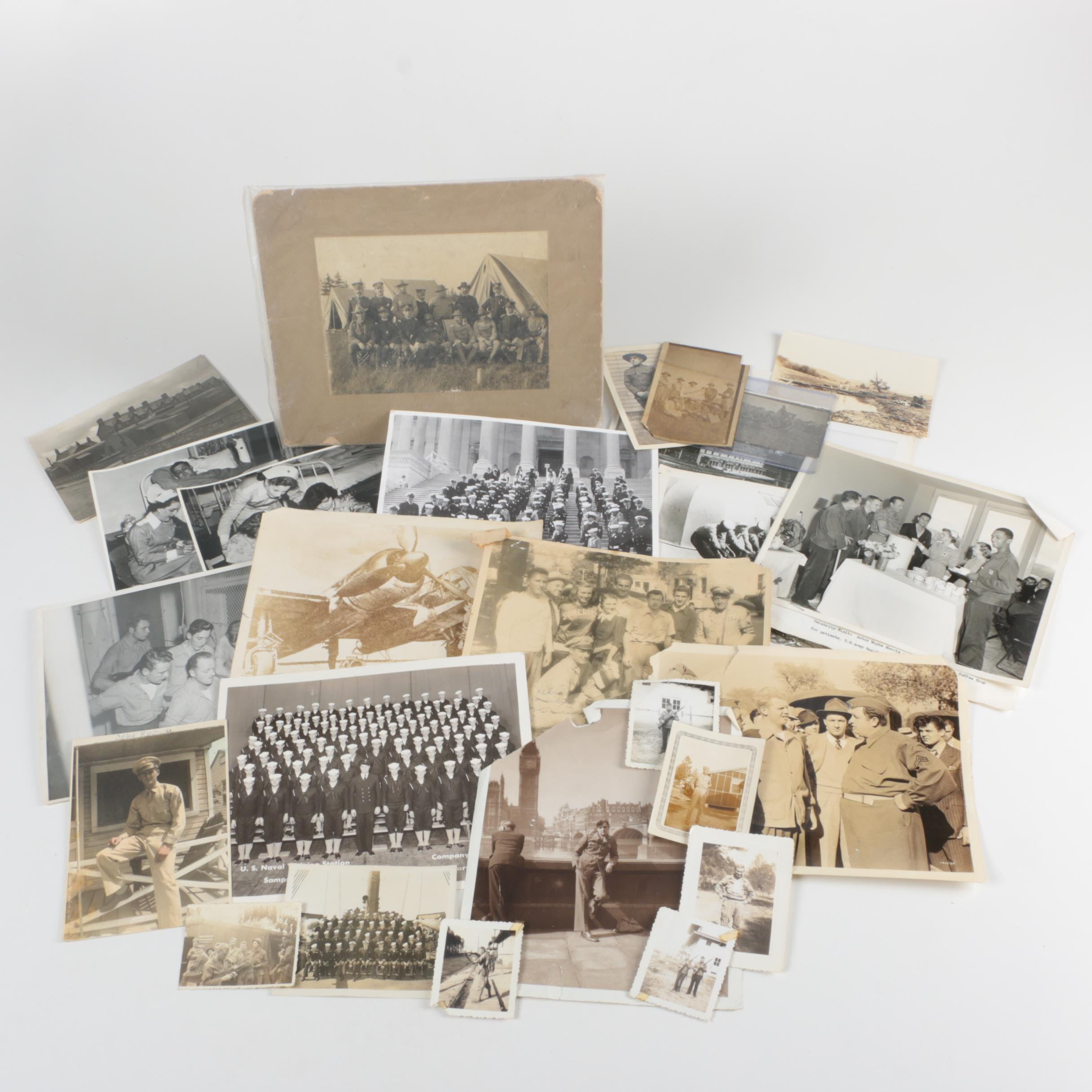 Vintage Photographs of Nurses and Military