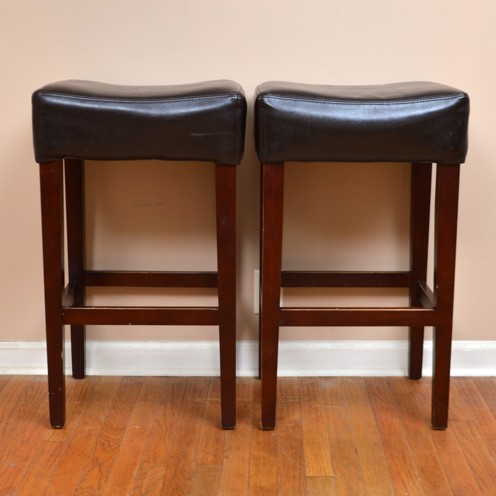 Two Bonded Leather Counterstools