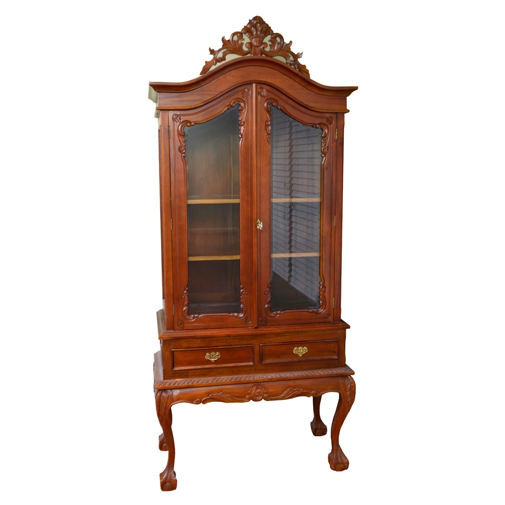 Vintage Chippendale Style China Cabinet