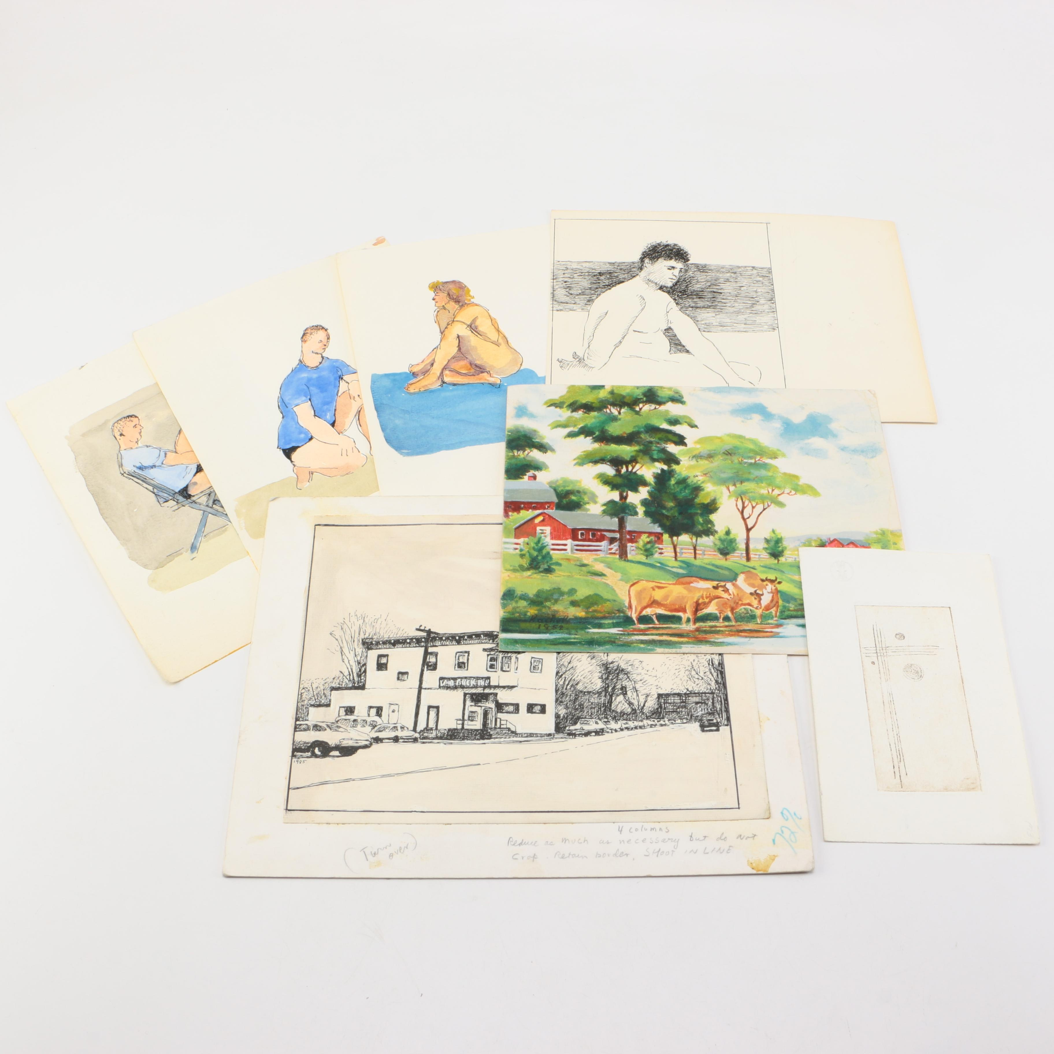 Collection of Drawings and Paintings