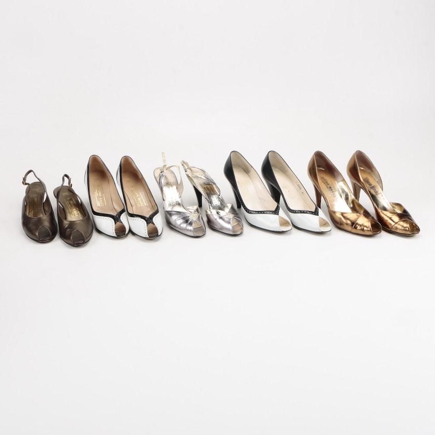 644c0fc7e2a Bruno Magli Leather Open-Toe High Heel Shoes   EBTH