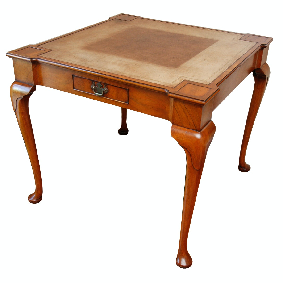 Queen Anne Style Mahogany Game Table