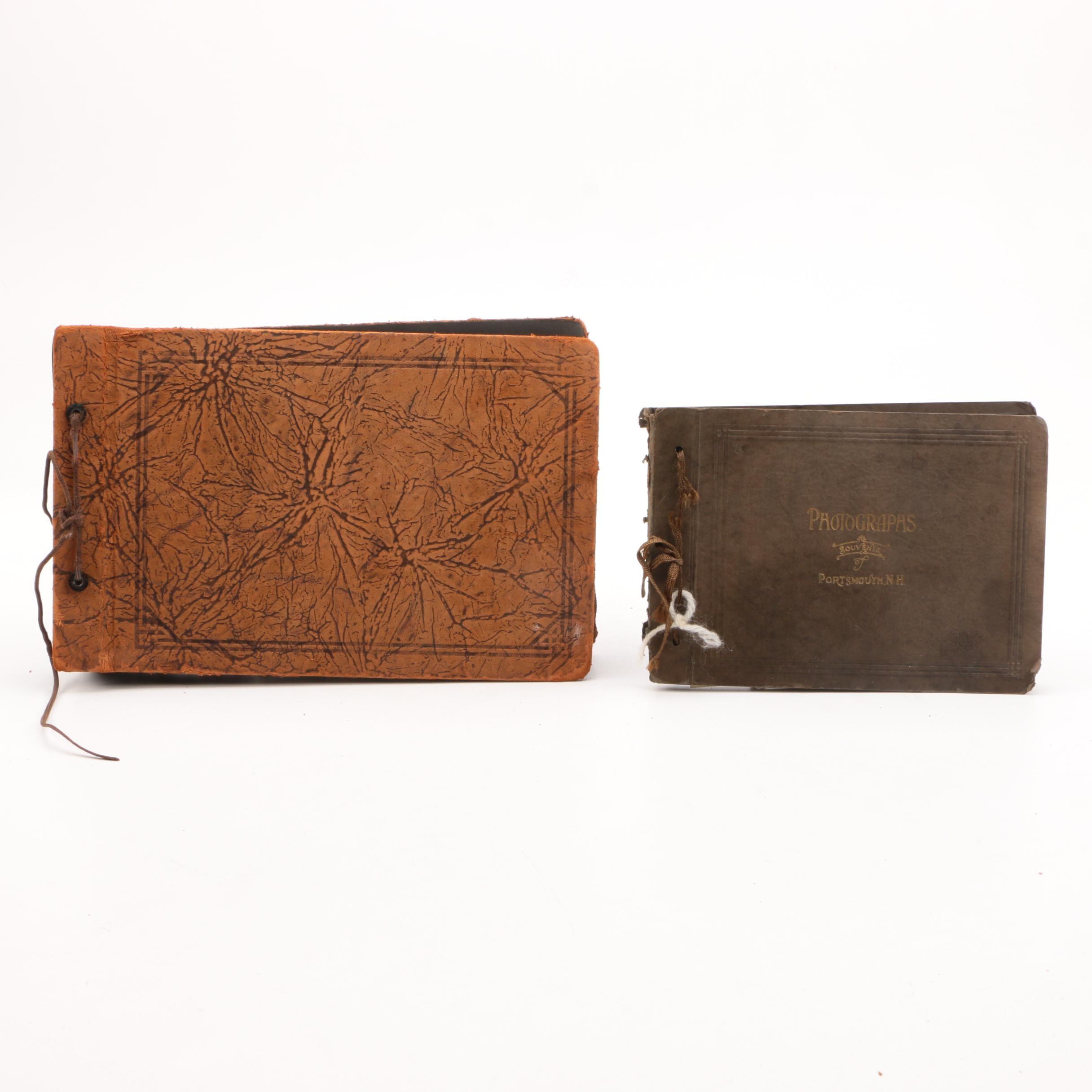 Vintage Leather Family Photo Books