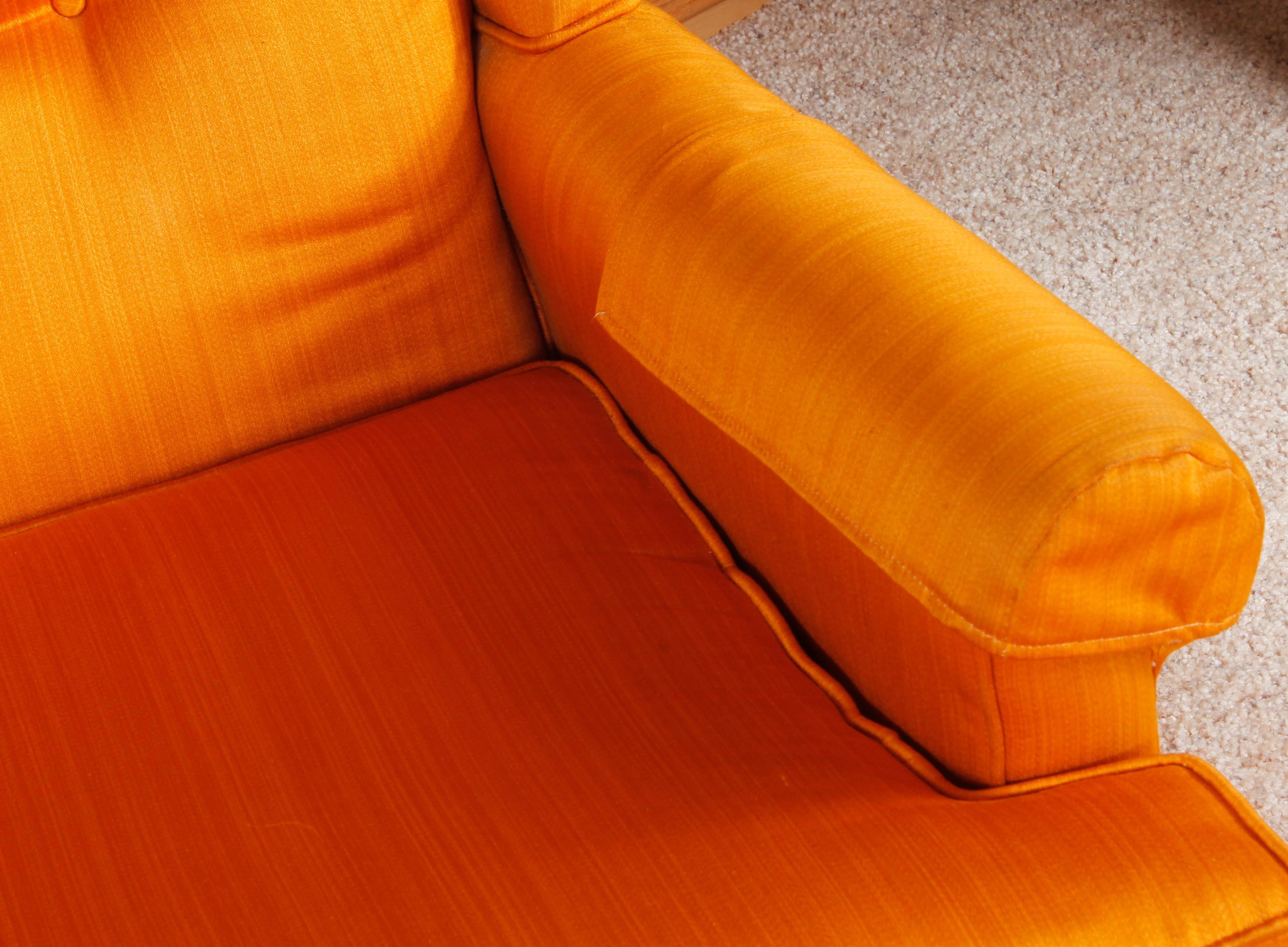 Vintage Quot Traditional Classics Quot Orange Armchair By Ethan