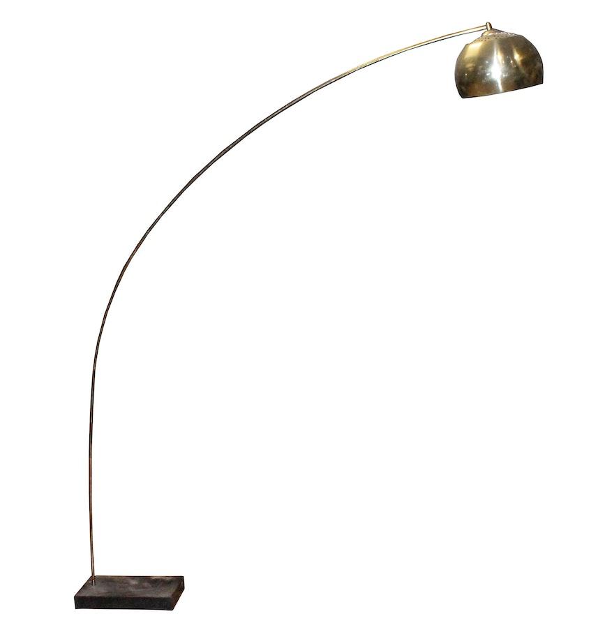 Vintage Mid Century Modern Arc Floor Lamp Ebth