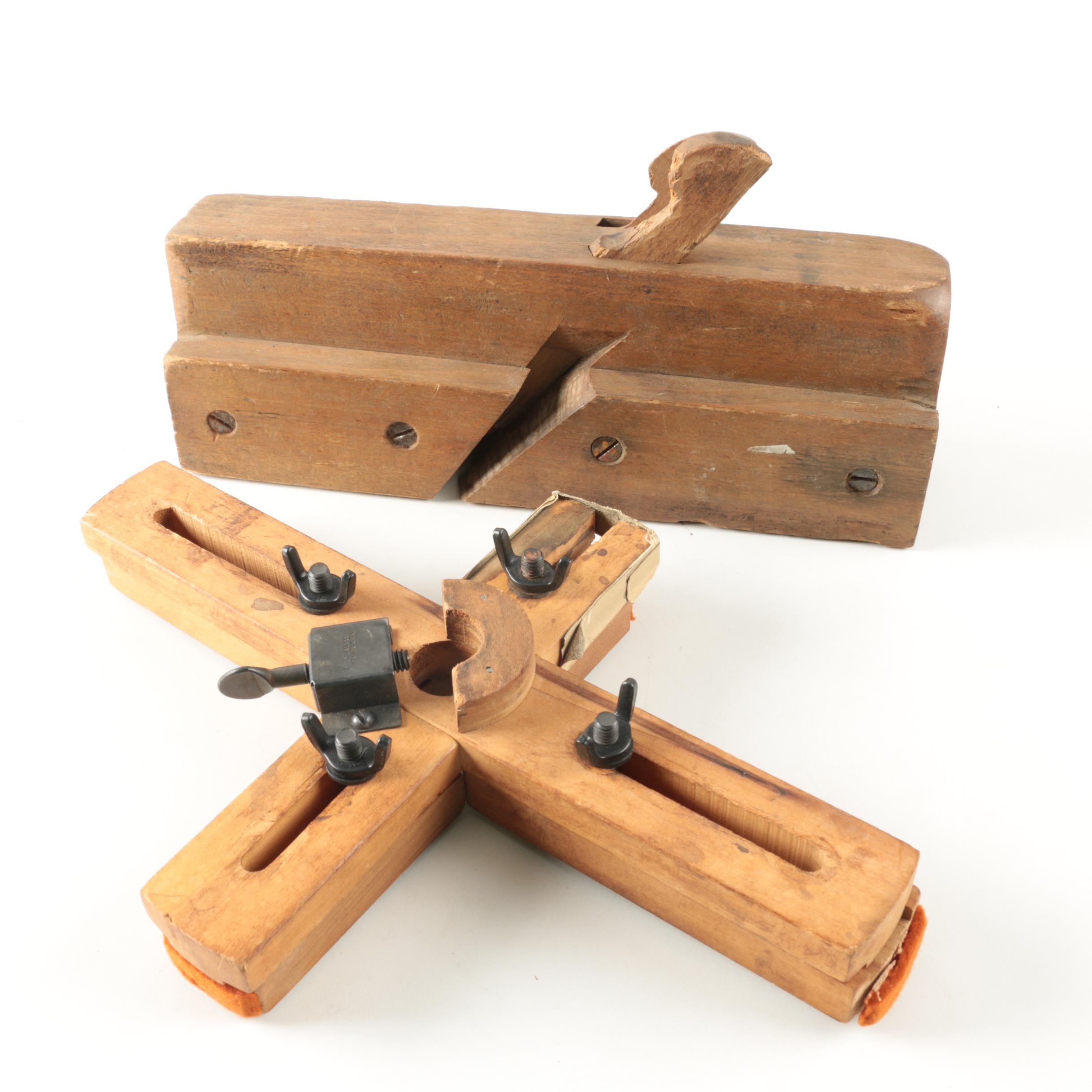 Vintage Wooden Mitre Set