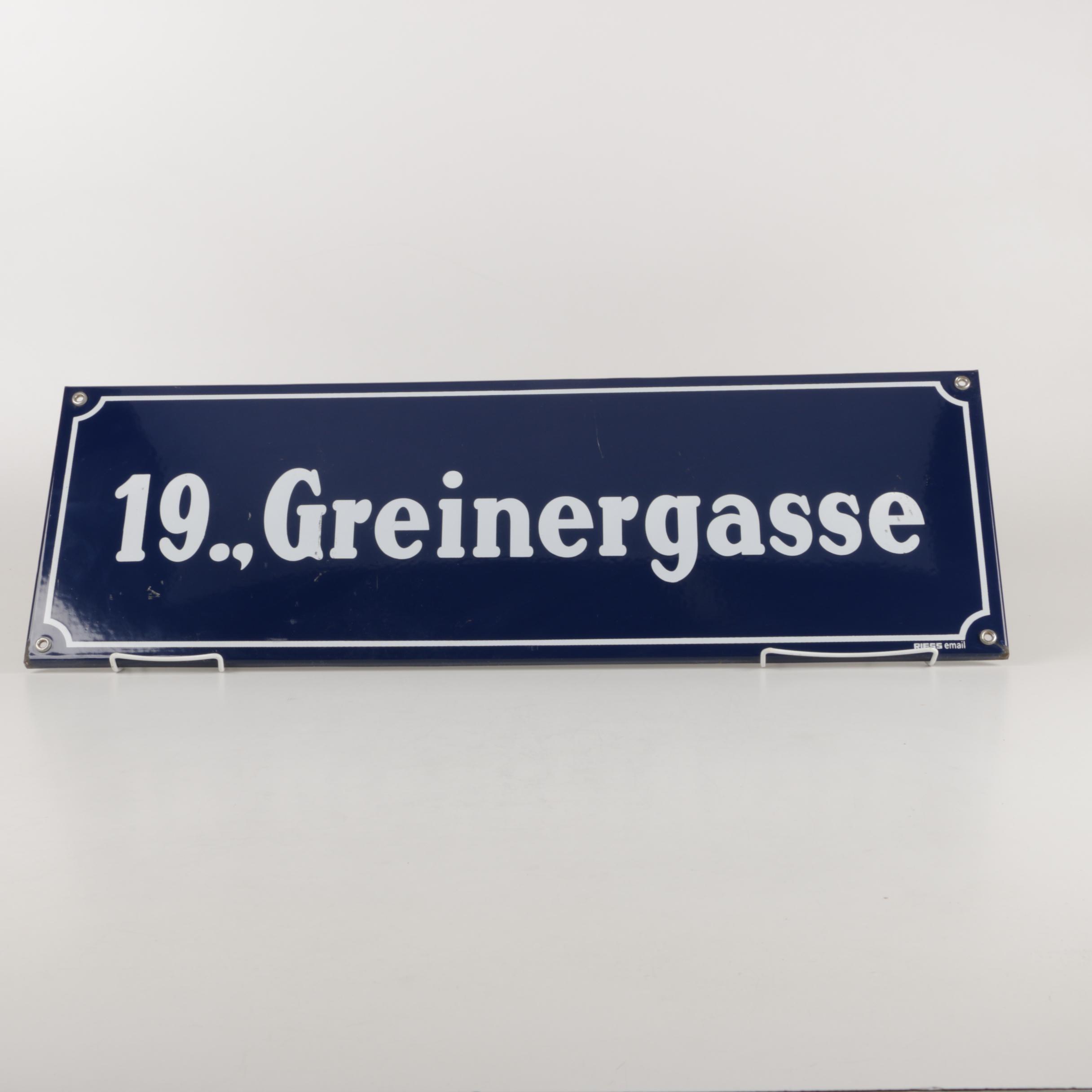 Austrian Enamel Street Sign