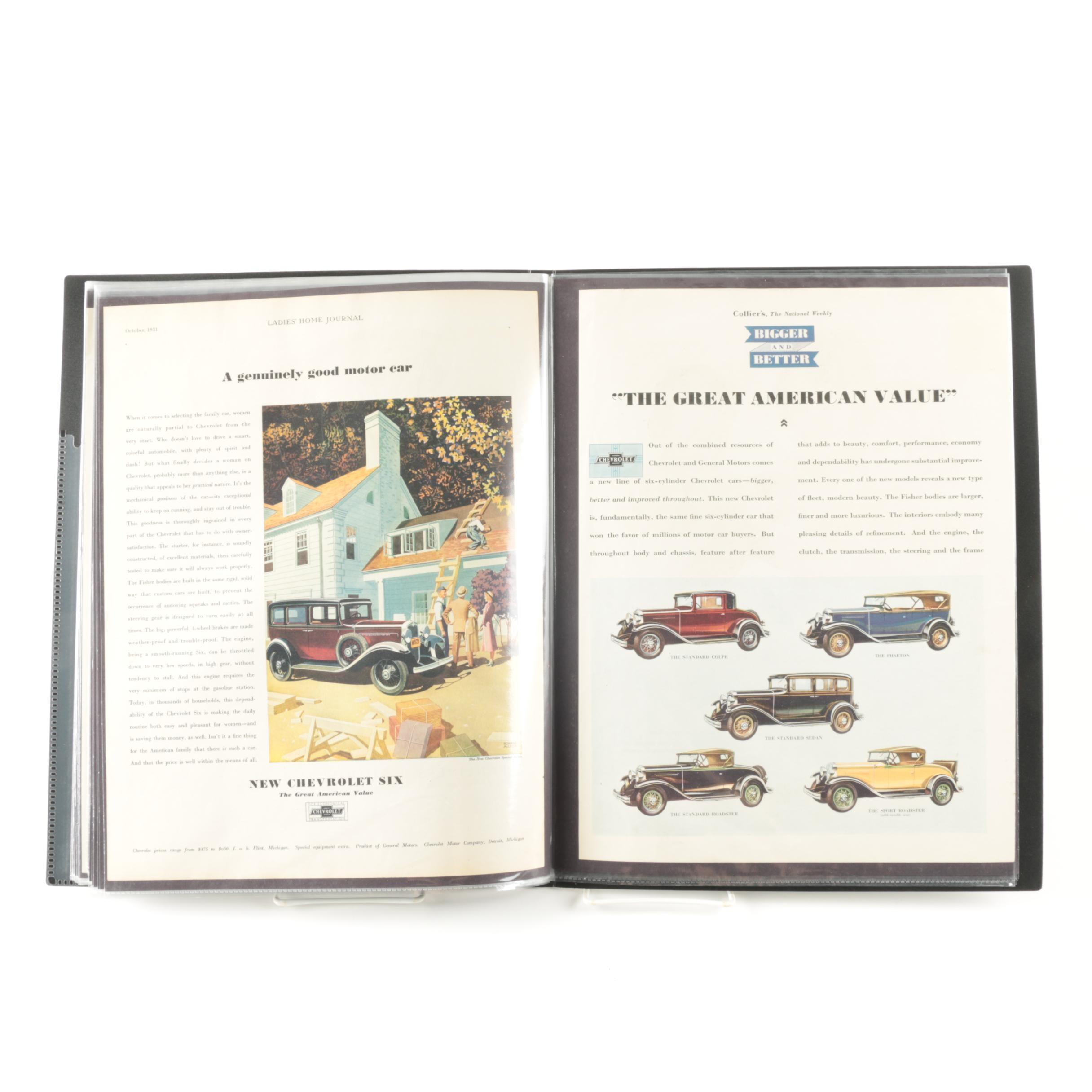 Portfolio of Vintage Chevrolet Advertisements