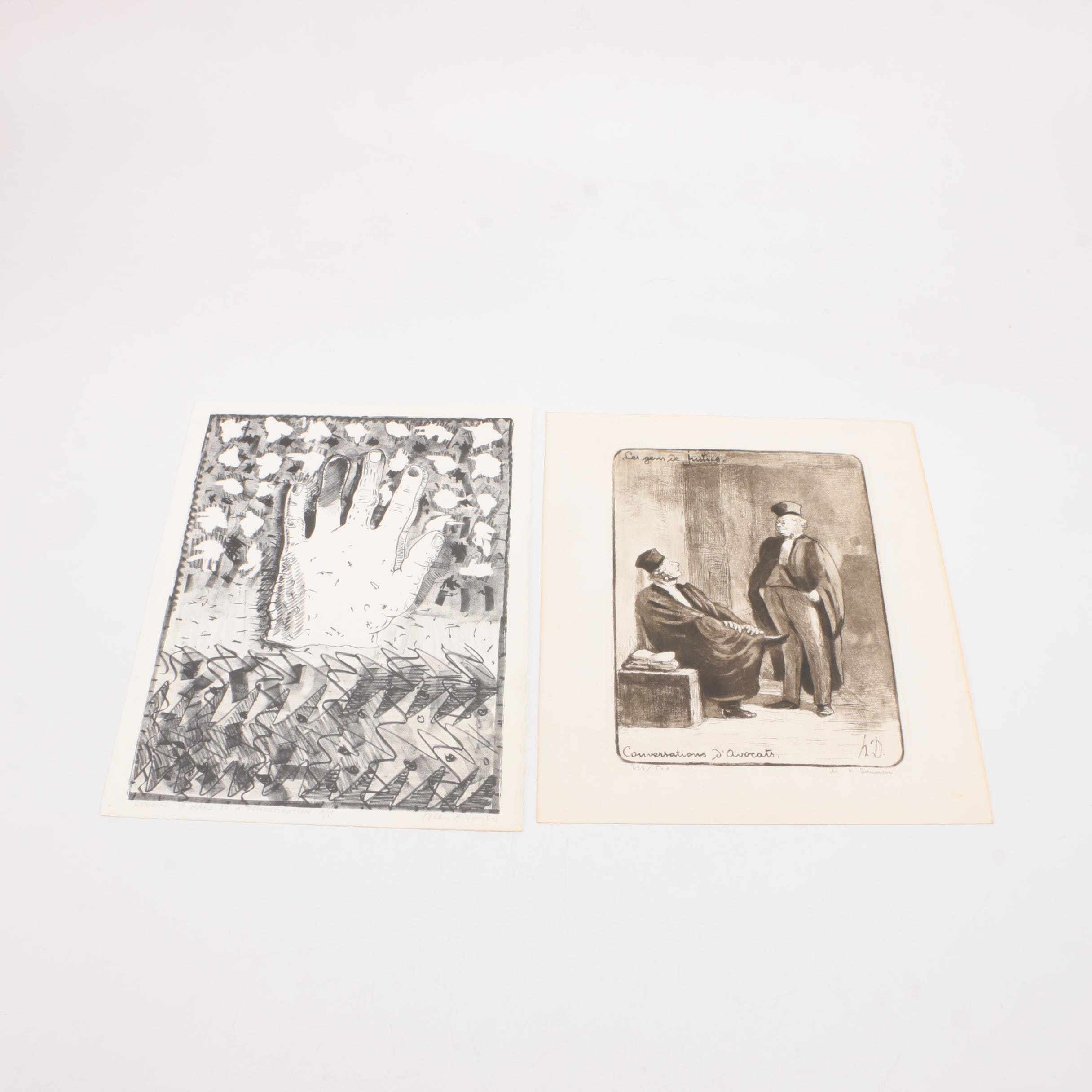 """Prints Including Honoré Daumier's Limited Edition """"Conversations D'Avocats"""""""