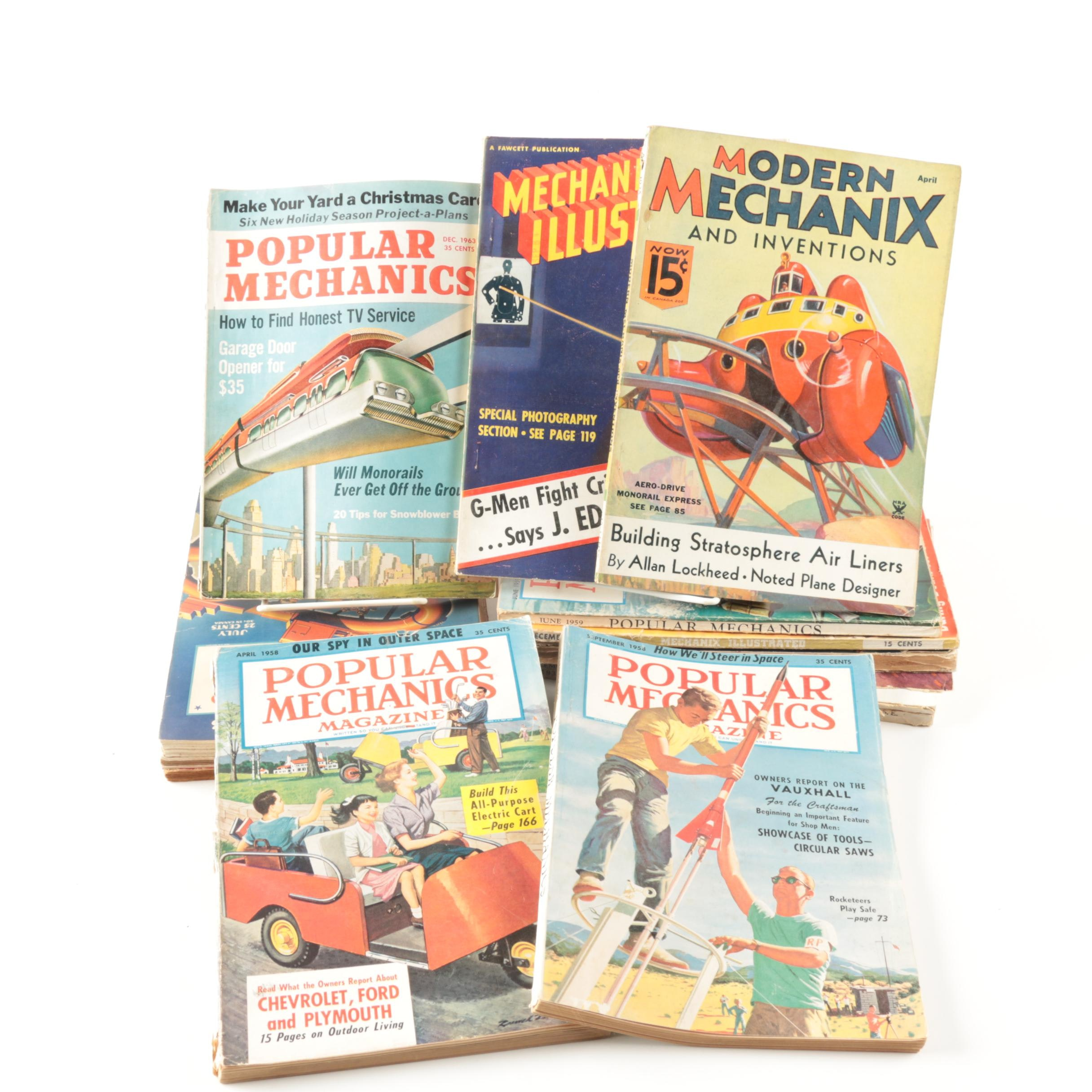 "Collection of ""Popular Mechanics"" and ""Modern Mechanix"" Magazines"