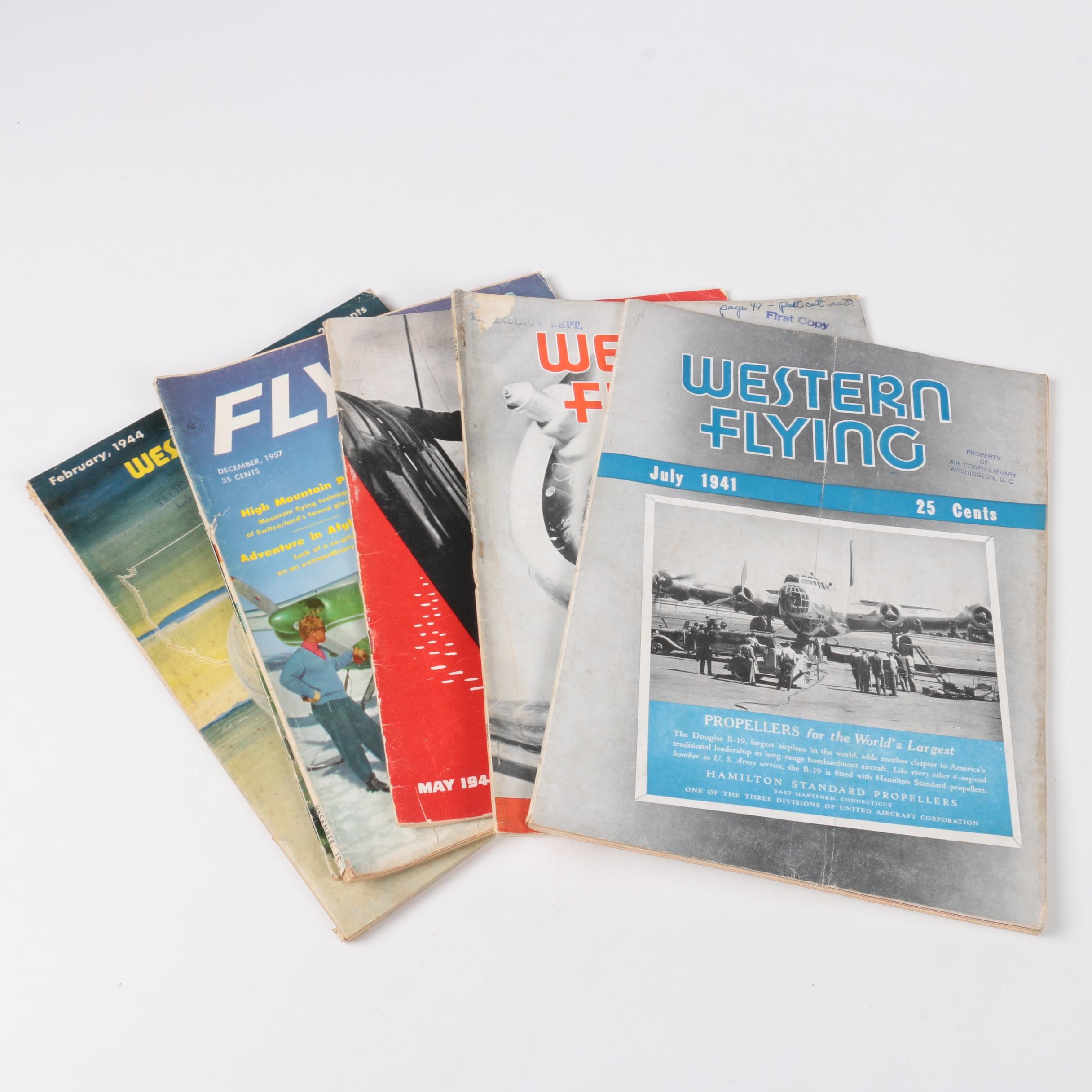 "Collection of ""Western Flying"" Magazine"